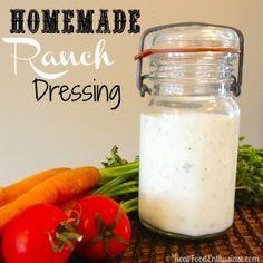 Easy homemade ranch dressing recipe! So much better than hidden valley ranch!