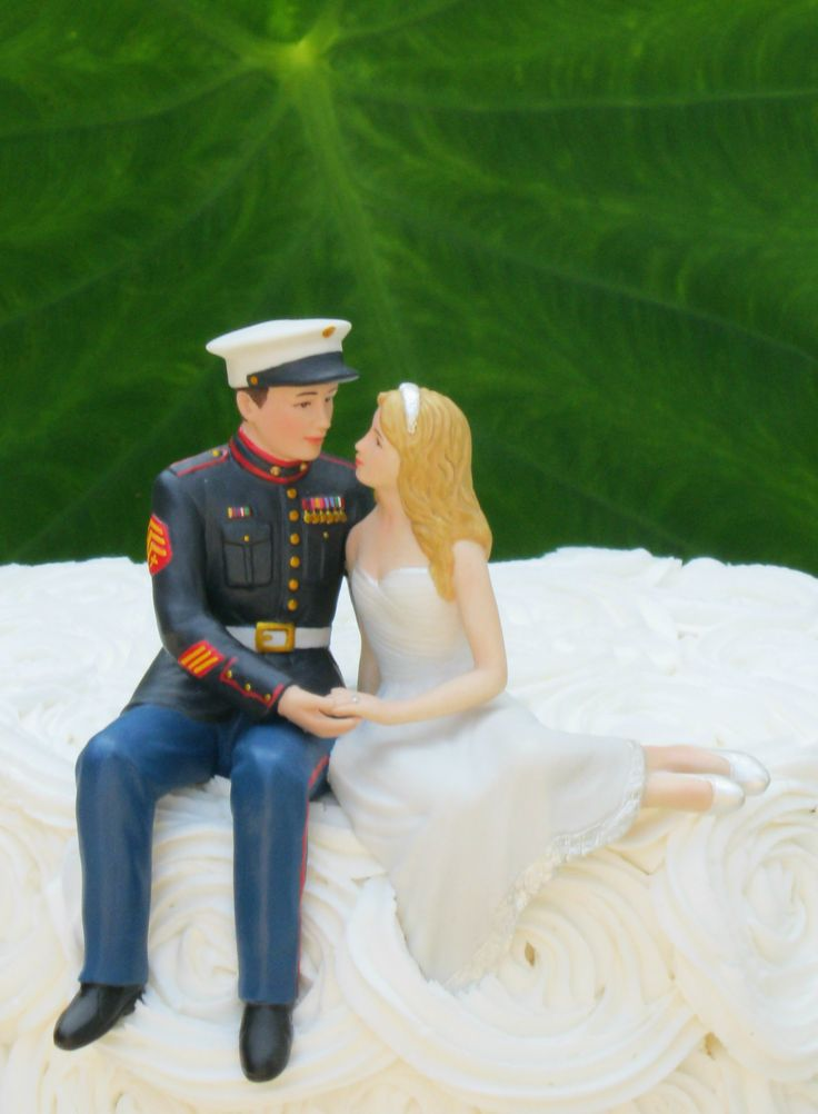 Marine Corps Wedding Cake Topper by Magical Day