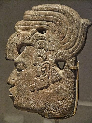 Royal Profile Late Classic Maya Mexico or Guatemala 650-800 CE Sandstone and pigment