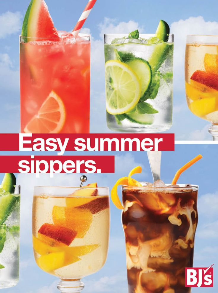 Easy Summer Sippers Recipes: Infused with flavor, these recipes for iced coffee, agua fresca and cocktails will help you beat the heat.http://stocked.bjs.com/content/easy-summer-sippers