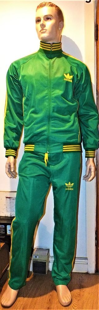 Mens Adidas Green Nice Tracksuit