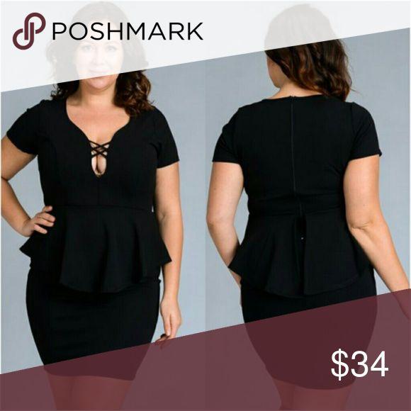 Plus size black peplum dress 1x 2x 3x Plus size black peplum dress 1x 2x 3x Dresses