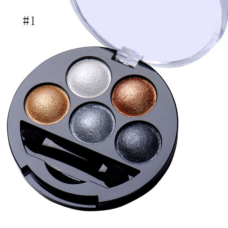 5 Colors Pigment Eyeshadow Palette Eye Shadow Powder Metallic Shimmer Makeup Beauty Profissional Make Up Warm Color Waterproof -- This is an AliExpress affiliate pin.  Click the VISIT button for detailed description on AliExpress website