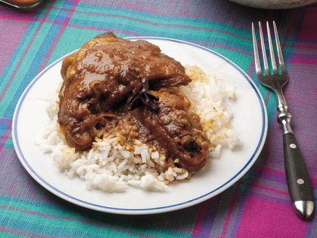 Pollo al curry rosso con riso basmati