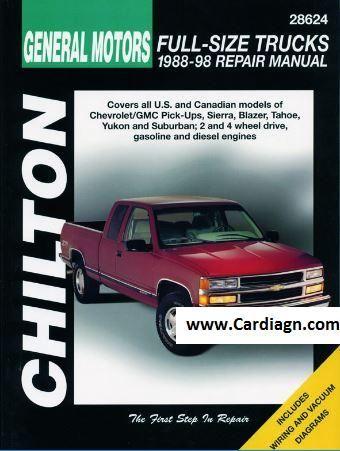 1988-1998 Chevrolet Pick-Ups Chilton Repair Manual