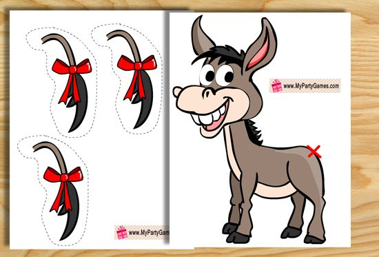 This Is A Free Printable Version Of Classic Pin The Tail