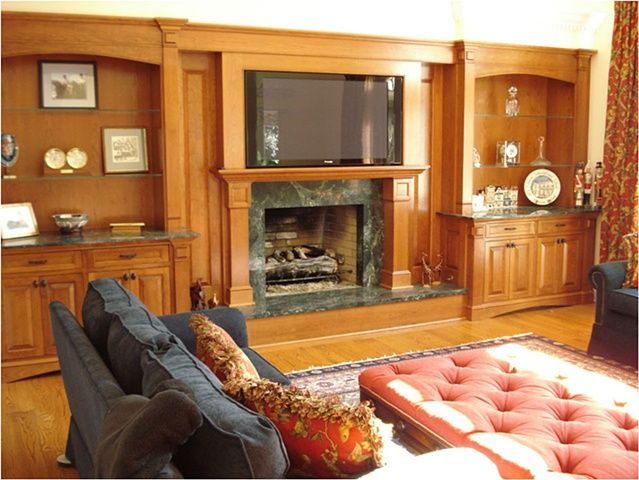 Built in Entertainment Center with Fireplace | ... - Full wall built-in Entertainment center and Fireplace Surround