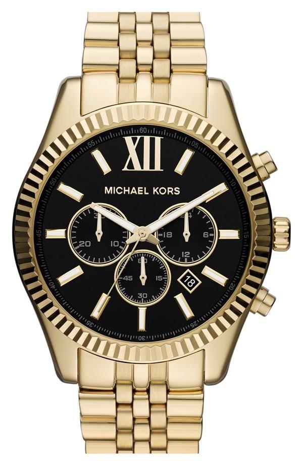 Michael Kors Gold & Black Chronograph Watch
