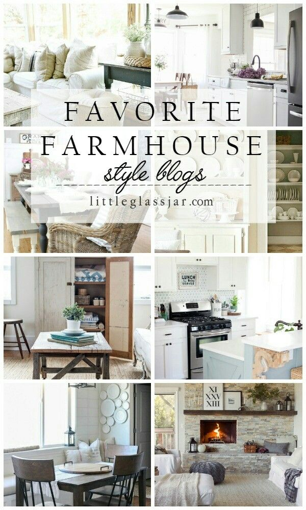 The best Farmhouse styled blogs around! Check out these beautiful houses!