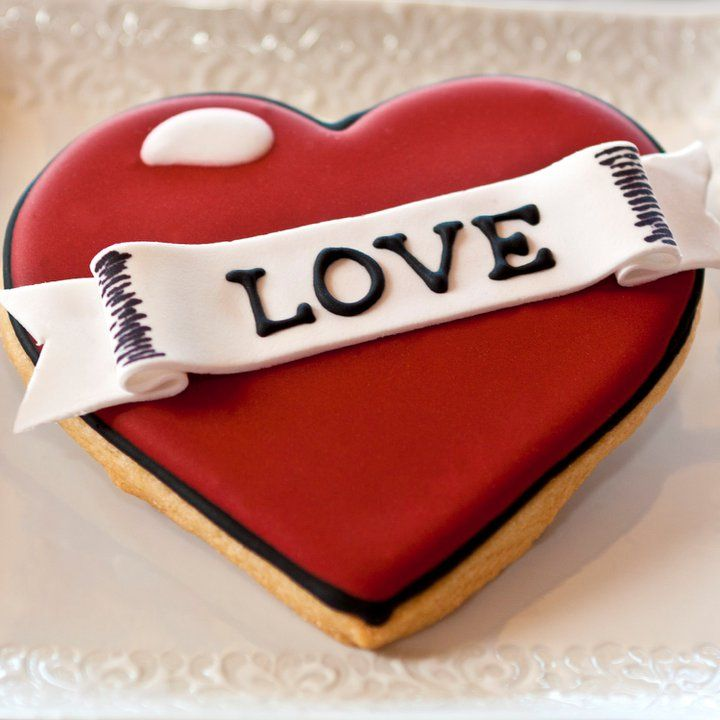 Tattoo heart valentine cookie by The Pastry Tart Bakery
