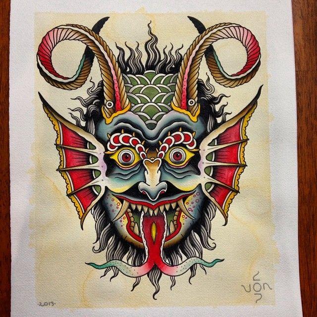 #trational #demon #head By Jon Garber @Jerry Zhang Carls