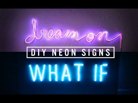DIY NEON SIGN DECOR   THE SORRY GIRLS - YouTube
