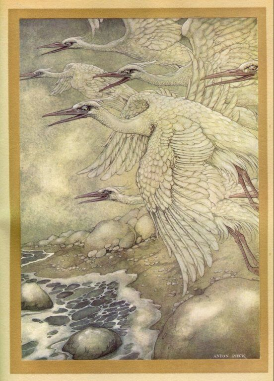 Giant birds of Wak-Wak islands - 1001 Nights