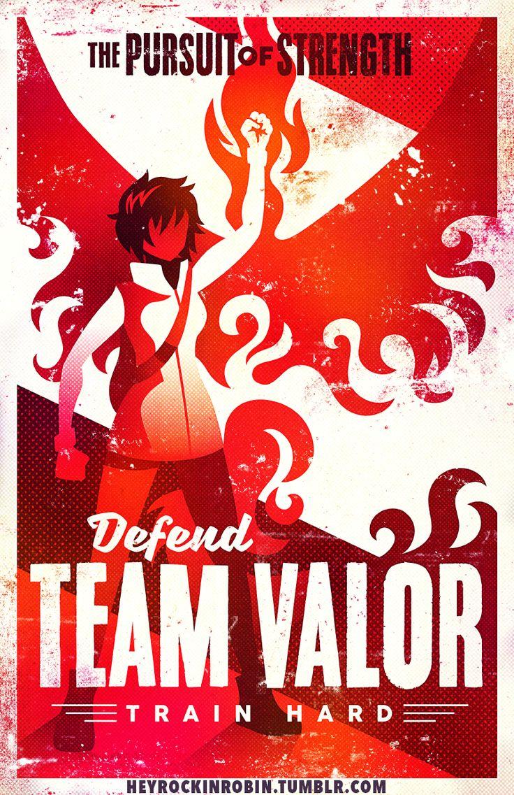 """Support+Team+Valor!  Printed+on+11x17""""+matte+light+cardstock."""