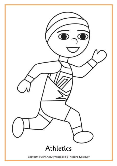 athletics colouring page