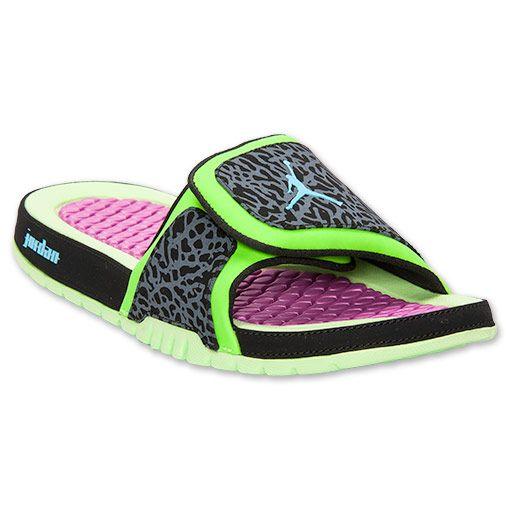 852b20c9c Air jordan men sandals hydro premier V 5 slippers for mens white green