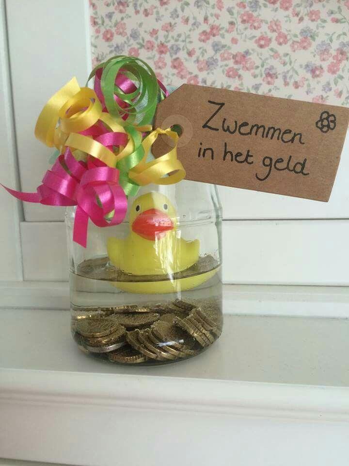Zwemmen in het geld Wat een leuk cadeau!