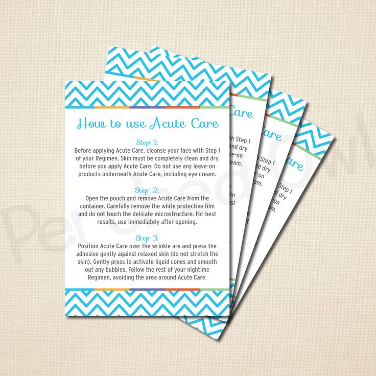 INSTANT DOWNLOAD - Acute Care Instructions Card - Direct Selling - Business Launch Party - Network Marketing - Digital File by PerchedOwl on Etsy