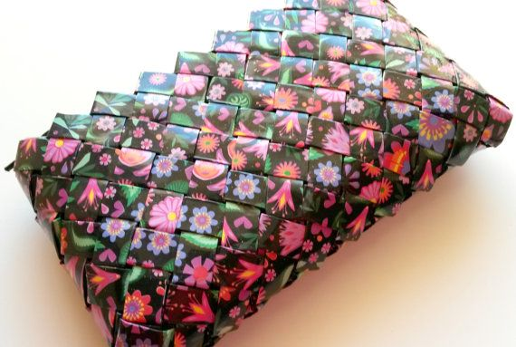 EcoFriendly Handmade Floral PaperBag by ThePaperBags on Etsy, €20.00