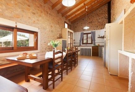 This charming stone house is located in the peaceful and rural area of Buger, halfway between the villages of Buger and Sa Pobla. Can Carratxet is an ideal villa for anyone that wants to escape the main tourist areas and enjoy the rural life of Mallorca. For the past two years the owners restored the villa maintaining an old and rural character. <br /> <br /> This two storey villa consists of a small lounge area nicely decorated with satellite TV and comfortable sofas. A large fitted…