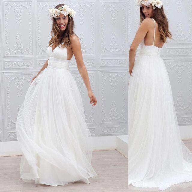 Greek Style Boho Bohemian Wedding Dresses Spaghetti Straps: 17 Best Ideas About Spaghetti Strap Wedding Dress On
