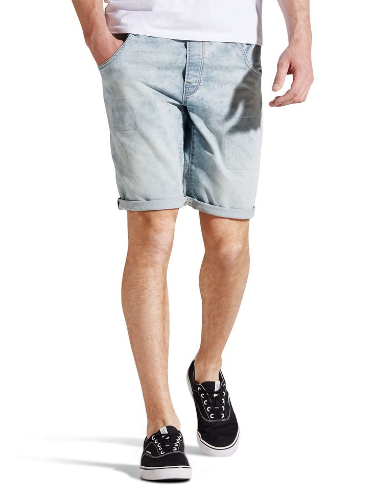 - Comfort fit shorts with elasticated waistband - The soft fabric is surprisingly comfortable - Handmade rips and repairs for a true jeans…
