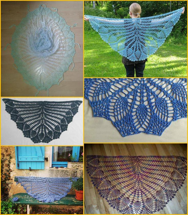 Breathy Crochet Pineapple Shawl - 100 Free Crochet Shawl Patterns - Free Crochet Patterns - DIY & Crafts