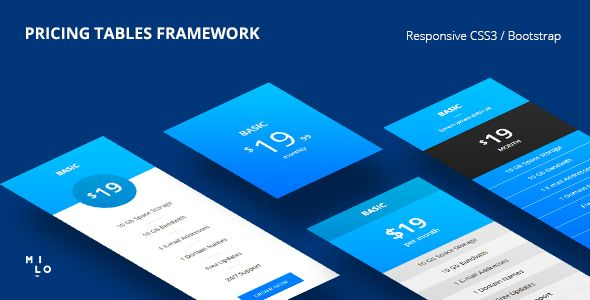 20 Price Table Bootstrap Templates for free download - http://www.designsave.net/2016/11/price-table-bootstrap-templates.html