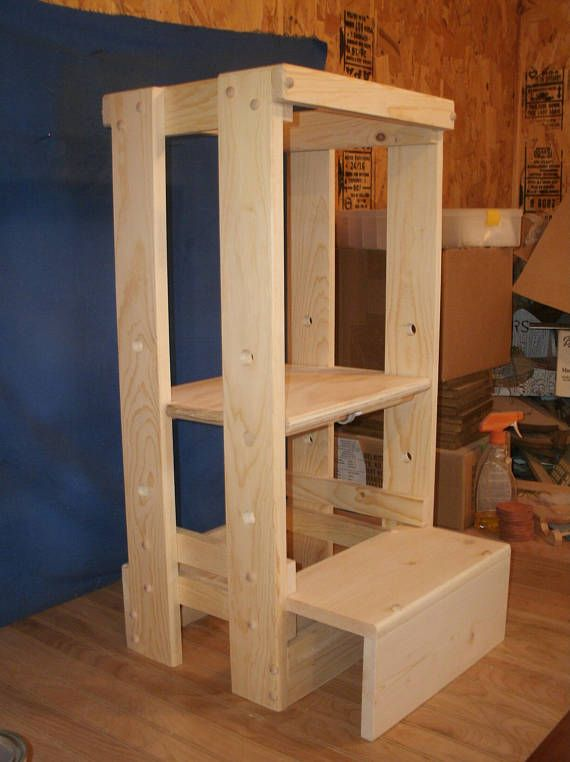 Tot Tower Space Saver Adjustable Tot Tower Kitchen Helper Etsy Learning Tower Kitchen Helper Step Stool Kids