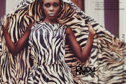 Тигровое платье в пол - звериная расцветка,тигр,тигровый принт,тигровое платье