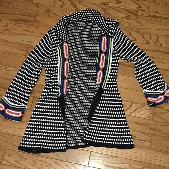 Black white button up sweater Long button up sweater cici tash Sweaters Cardigans