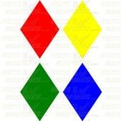 Individual Cut Vinyl Diamonds (set of 4)