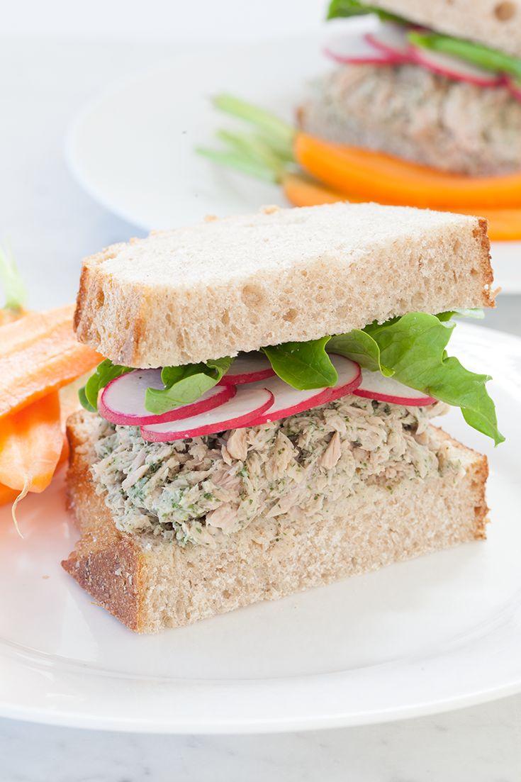 #Epicure Lemon Basil Tuna Sandwiches