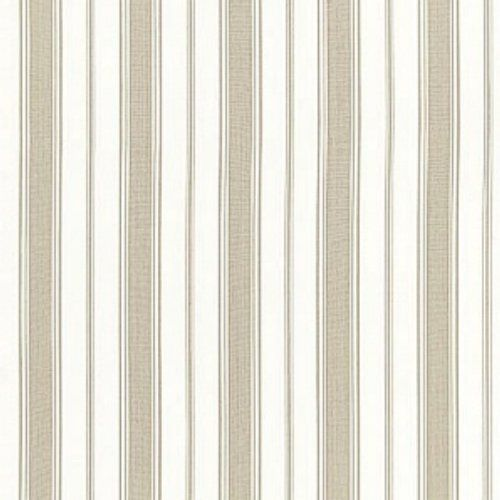 Schumacher Branca Stripe Greige Fabric