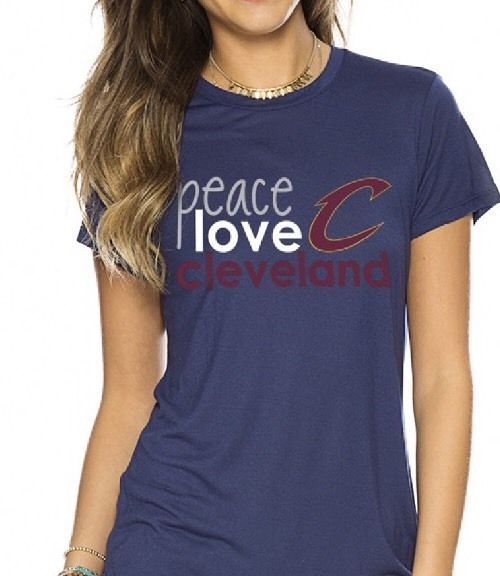 PEACE LOVE WORLD NBA CLEVELAND CAVALIERS CREW NECK SHIRT NAVY BLUE XSMALL  CAVS #PeaceLoveWorld #NBASPORT