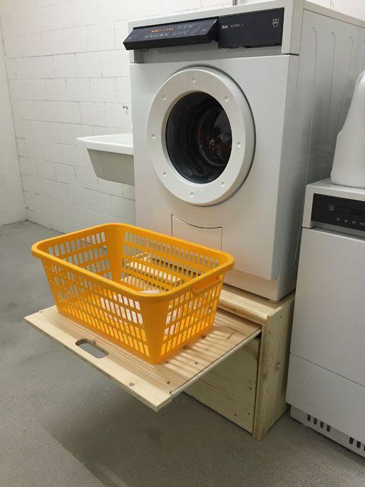 Waschmaschinenpodest Tumbler kistenmoebel.ch Wegmueller Attikon Holz stapelbar