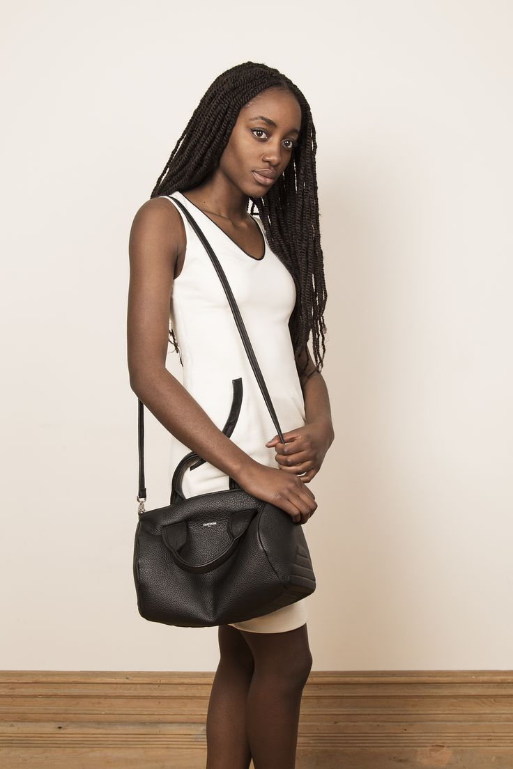 Model with our leather handbag VIVI. www.jeromebocchio.com