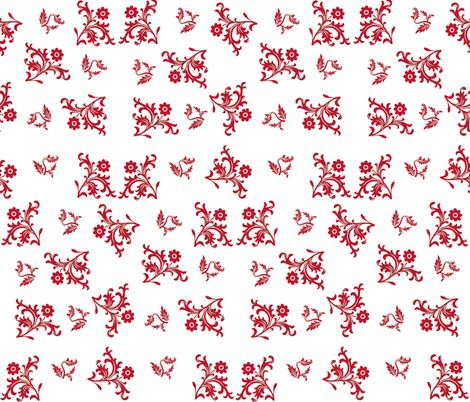 Danish Scandinavia Red on White fabric by forestwooddesigns on Spoonflower - custom fabric