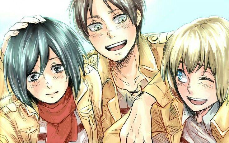 Eren, Mikasa and Armin | Shingeki no Kyojin (Attack on Titan - Ataque de los Titanes) #SnK #Anime
