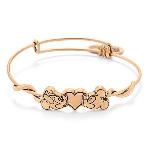 Mickey and Minnie Mouse Bangle by Alex and Ani | Disney Store