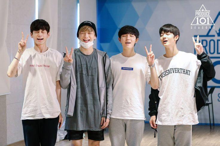 produce 101 season 2 hands on me team one seongwoo kang daniel kim jaehwan bai jinyoung