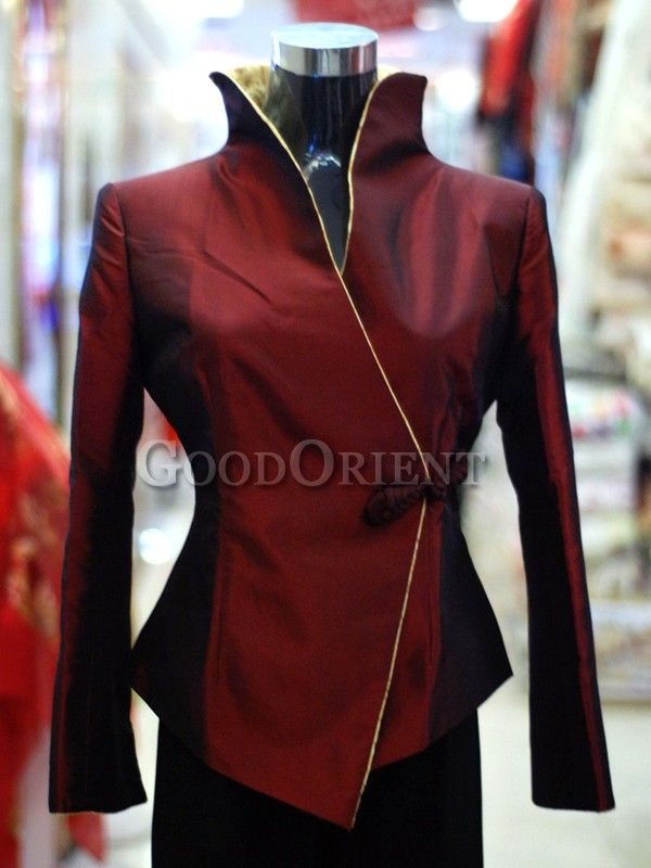 Purple Red Silk Brocade Jacket
