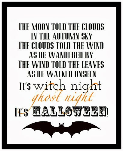 Itu0027s Halloween {Free Printable} @ Blissful Roots   Awesome Quote!