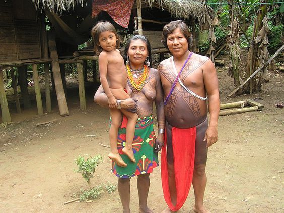 An Embera family, Chagres National Park