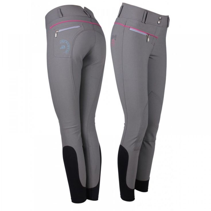 Breeches Jessy from Equi-Luv. Beautiful grey in a comfortable stretch fabric.