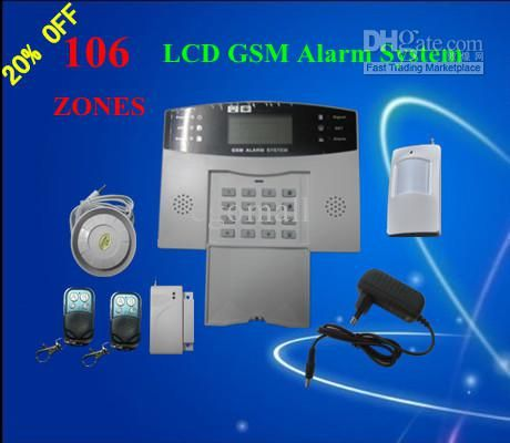 High Quality GSM Wireless Burglar Alarm Home Security Systems Voice + LCD Auto Dialer S214 Online with $65.97/Piece on Egomall's Store | DHgate.com
