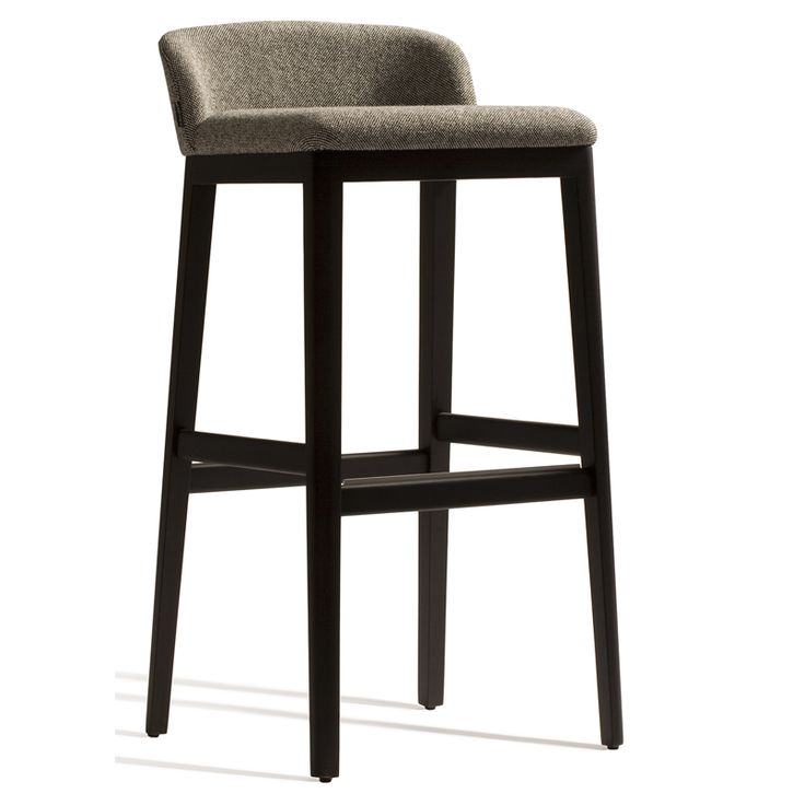 Lovely Low Back Upholstered Bar Stools