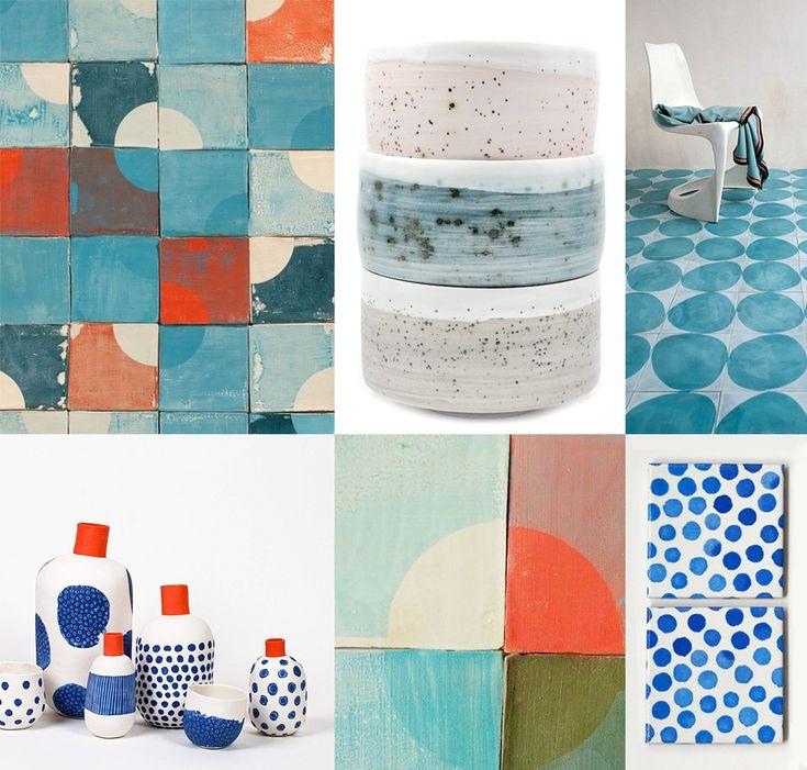 Tegels, servies, vazen en kunst met als persoonlijke favorieten designer Marianne Smink en ontwerpduo Jean-Marc Fondimare en Eric Hibelot van l'atelier des garçons.