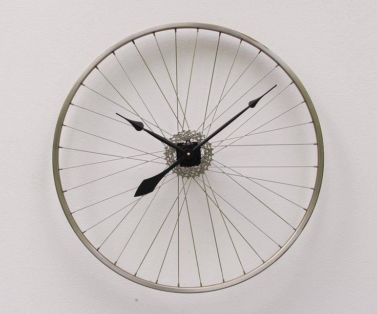 Bike Wheel Clock, Large Wall Clock, Cyclist Gift, Unique Wedding Gift, Steampunk Decor, Bicycle Wall Clock, Modern Wall Clock , road bike by pixelthis on Etsy