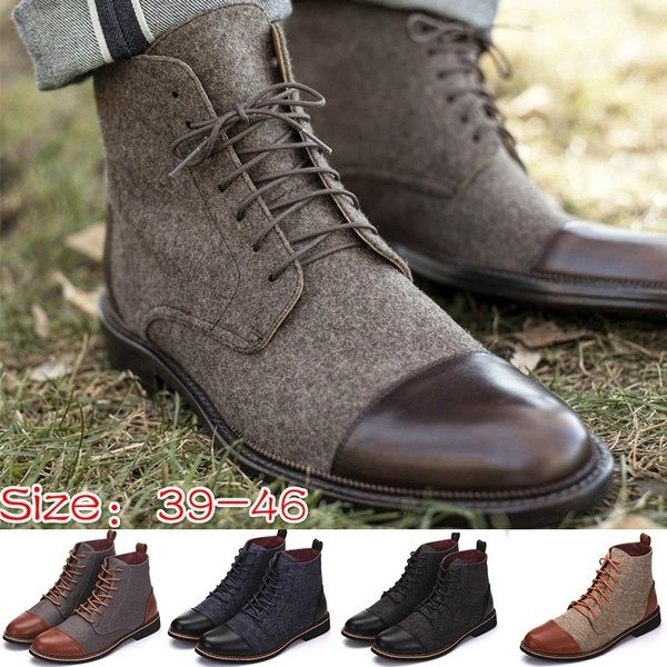 e251a026dd58 Wish | Plus Size 39-47 Men 's Jack Boot In Brown Fashion Casual Men ...
